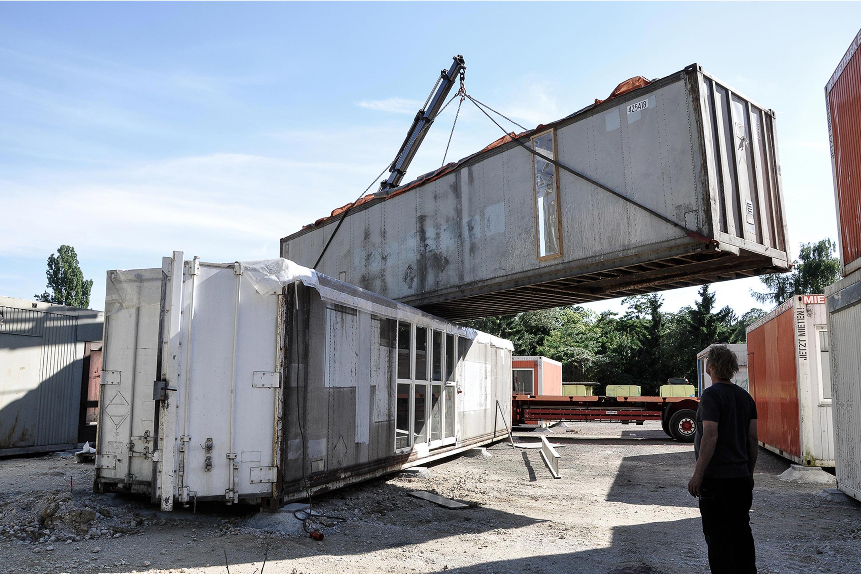 Platzieren der Container